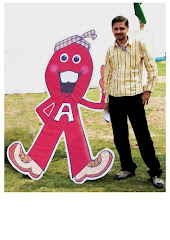 with my AIDS-TOON charactor