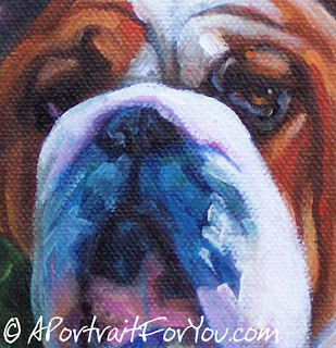 Bulldog Painting for Charity