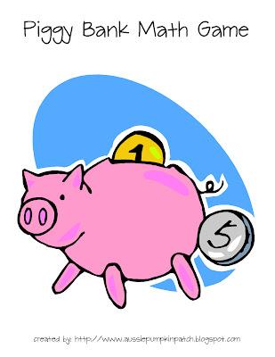 Aussie Pumpkin Patch: Piggy Bank Math Game