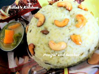 Adlak's Kitchen: A COMFORTING BREAK FAST (GHEE PONGAL)