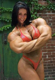 Woman muscle growth