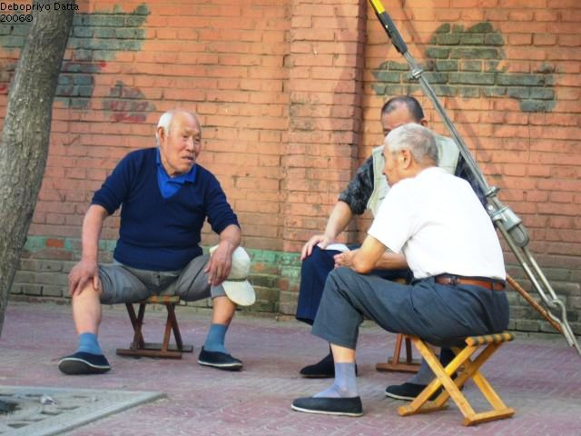 Afternoon chat, Beijing 2006