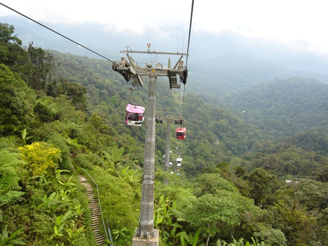Rope way to the Genting Highlands
