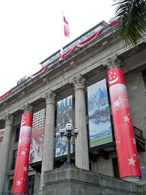 The Singapore  High Court decked up for the independence day celebrations