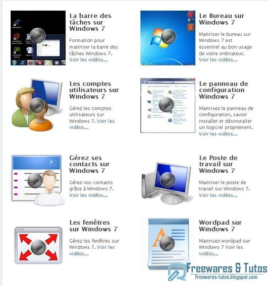 Le site du jour : Formation à Windows 7