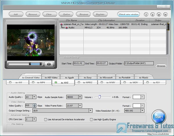 Offre promotionnelle : WinX HD Video Converter Deluxe gratuit !