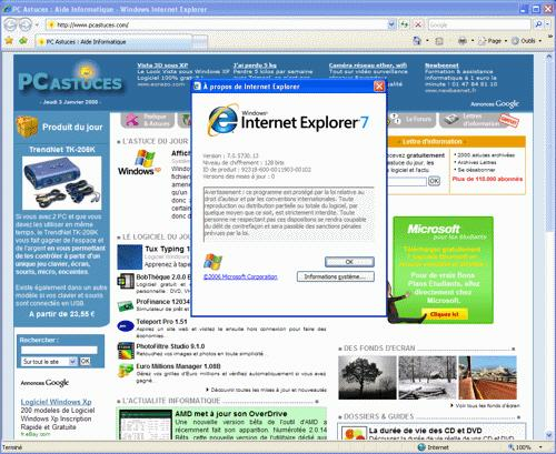 Le site du jour : Optimiser Internet Explorer 7