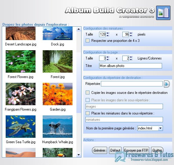 Album Build Creator : créez vos albums photos