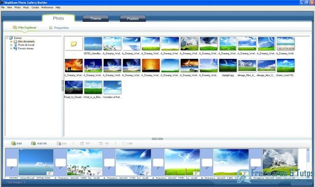 SkyAlbum Photo Gallery Builder : créez des galeries d'images en flash