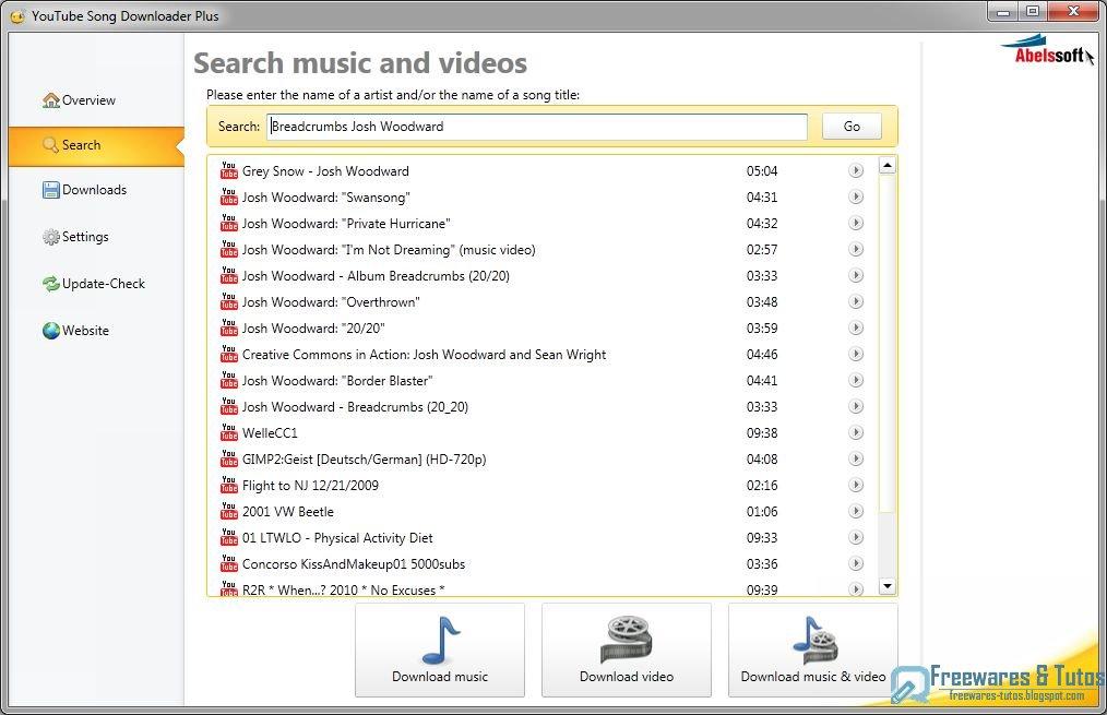 Abelssoft youtube song downloader un logiciel pour t l charger la musique des vid os de - Telecharger logiciel couper mp3 ...