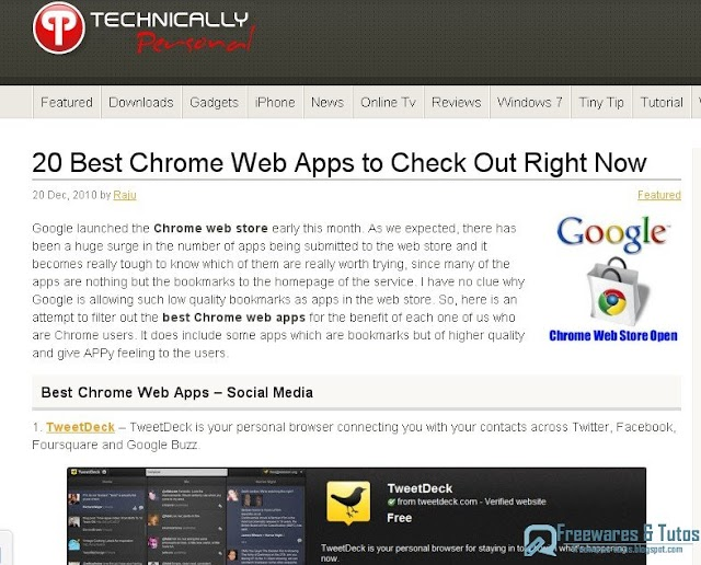Les 20 meilleures applications web pour Google Chrome