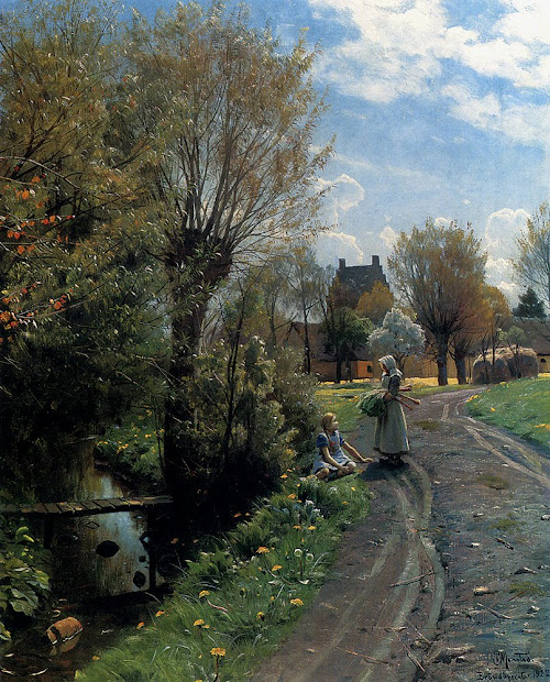 Landscape Painting by Danish Artist Peder