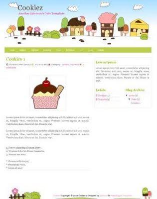 Free Blogger Templates Blogger Template  Cookiez - free cute blogger templates