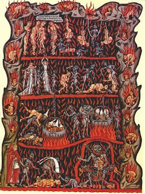 L'Enfer, Le Jardin des Délices, Herrade de Landsberg