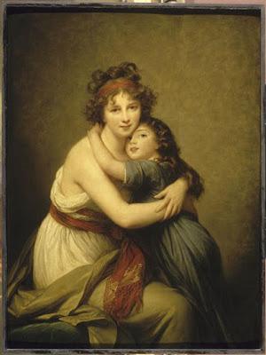 Autoportrait avec sa fille Jeanne-Lucie (1789), Elisabeth Vigée-Lebrun
