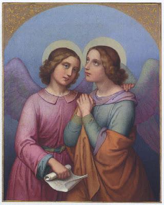 Zwei betende Engel, Anna Maria Ellenriede