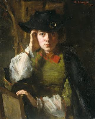Portrait of Lizzie Ansingh (1902), Thérèse Schwartze