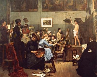 L'Atelier des Femmes (1881), Marie Bashkirtseff