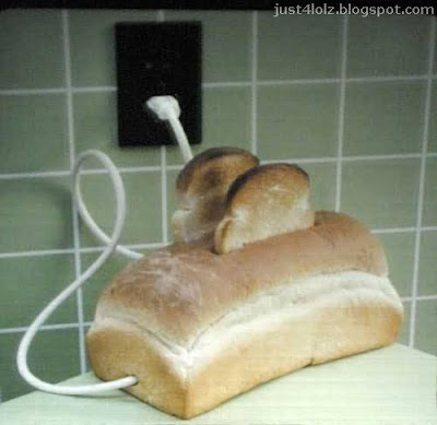 funny toaster food