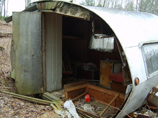 Here Is An Old Canned Ham I Found In The Woods Today Nice Windows And Open Floor Plan