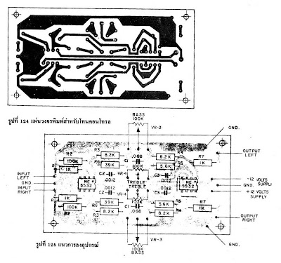 IC NE5532 x2. Tone Control Stereo (bass-treble