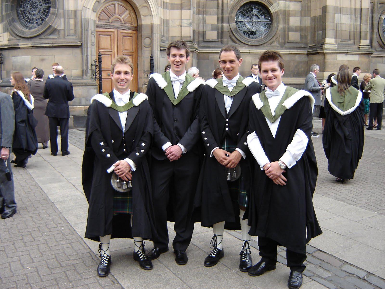 edinburgh university graduation what to wear