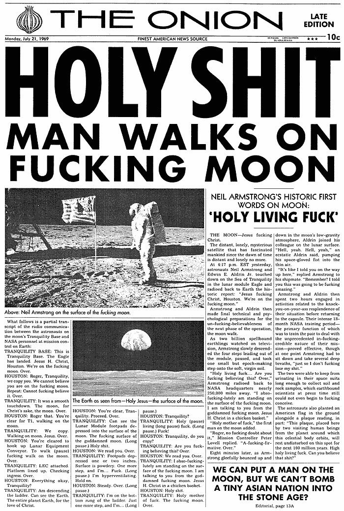 Moon landing is fun!