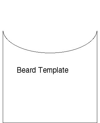Santa beard countdown template new calendar template site for Goatee trimming template