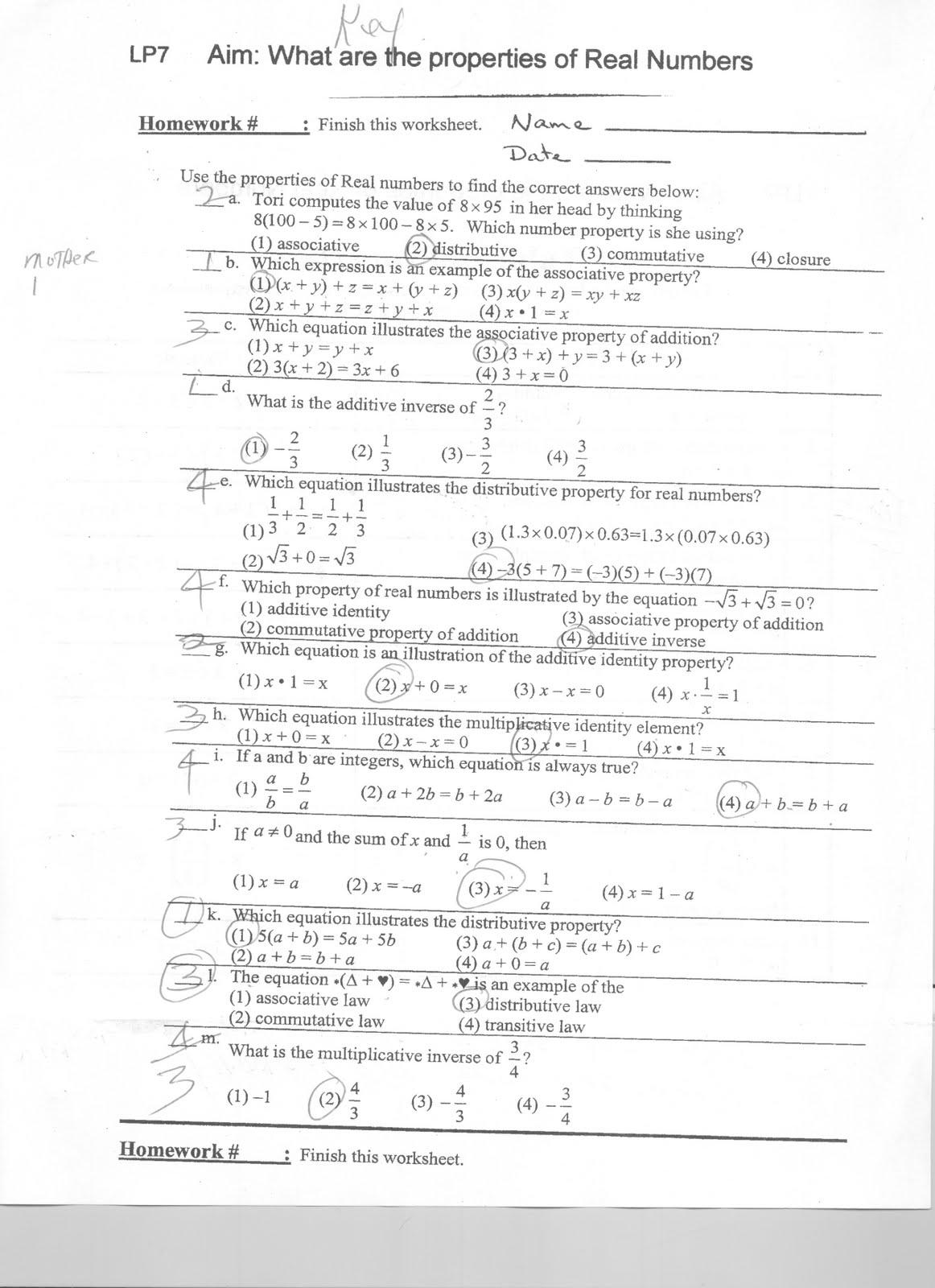 Mr Napoli S Algebra September