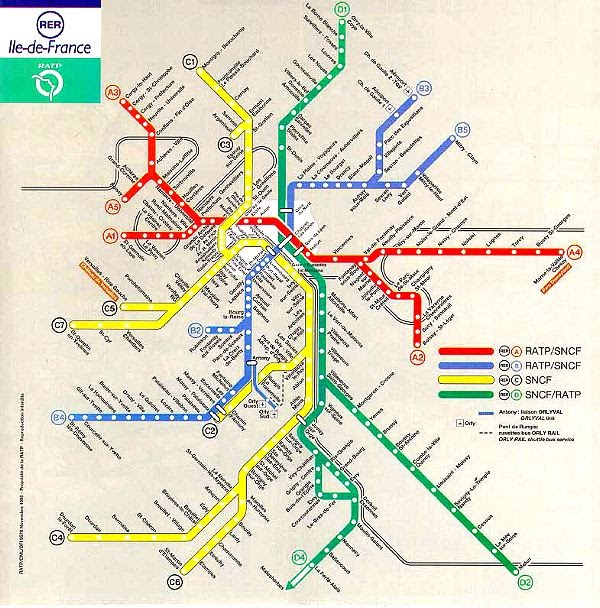 Understanding Society Is A Rail Work Social Structure: Train Map Of Paris At Infoasik.co