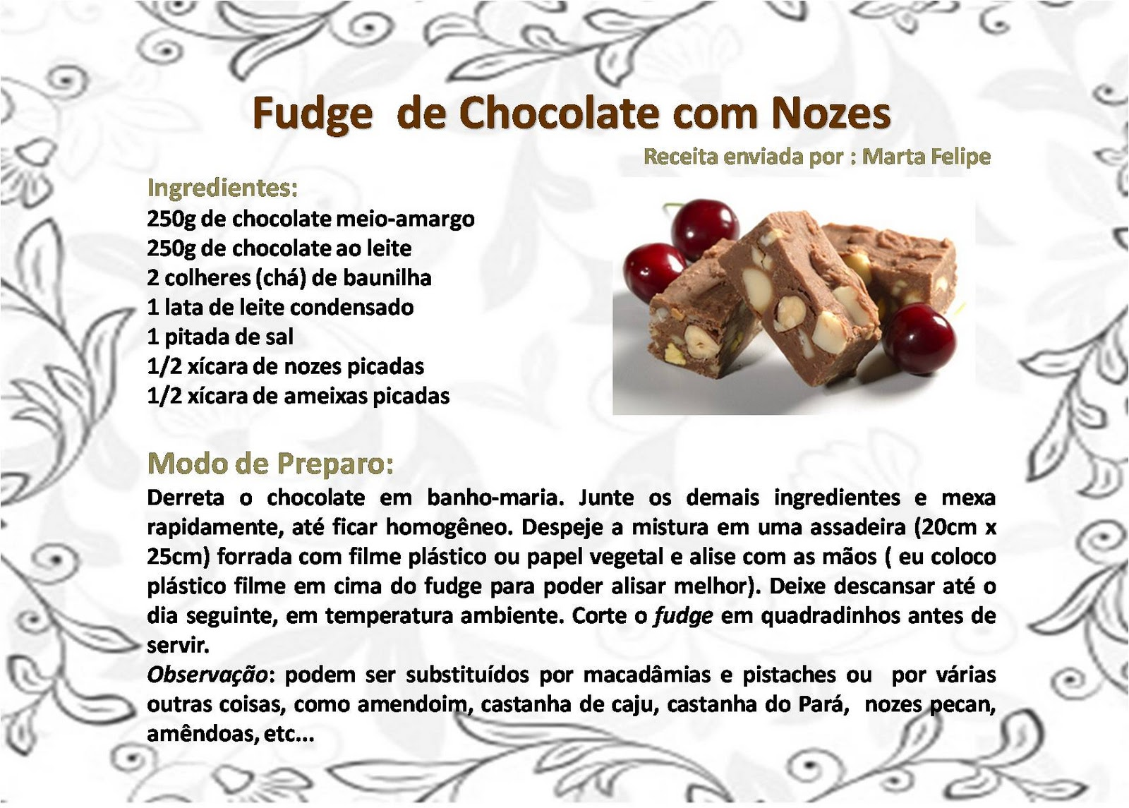 Easy Chocolate Fudge Receita