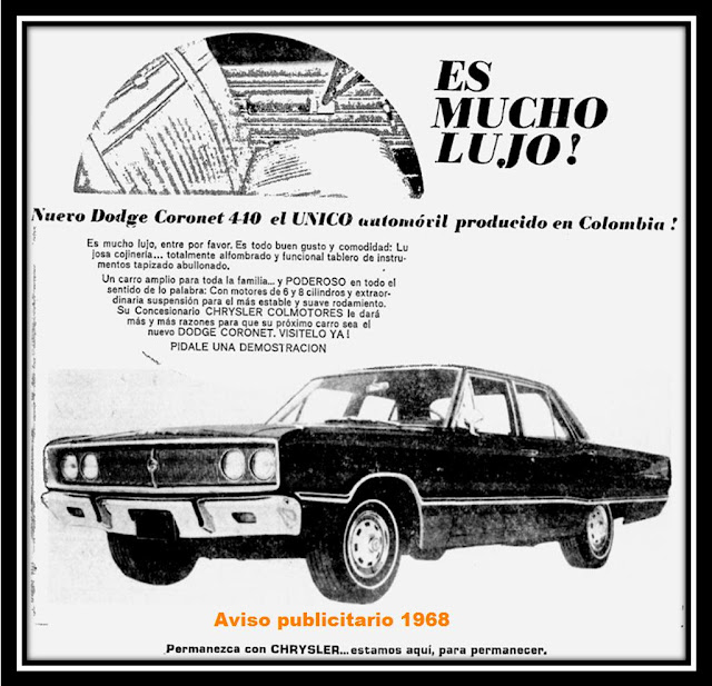HISTORY CARS COLOMBIA Alberto José Miranda Cruz: DODGE