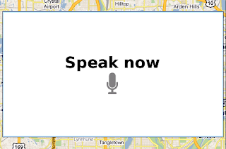 Google Maps Search by Voice