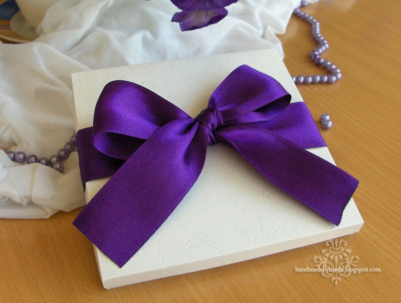 Wedding Invitations With Purple Ribbon
