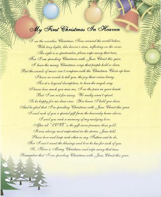 Christmas In Heaven Poem Printable.Memorial Gift 96 Touching 8x10 Bereavement Poem Double