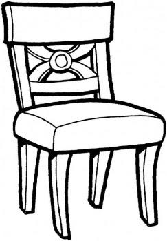 Colorir E Divertido Cadeira Para Colorir Desenhos De Moveis