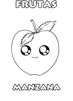 Colorear Es Divertido Colorear Manzana Dibujos Frutas