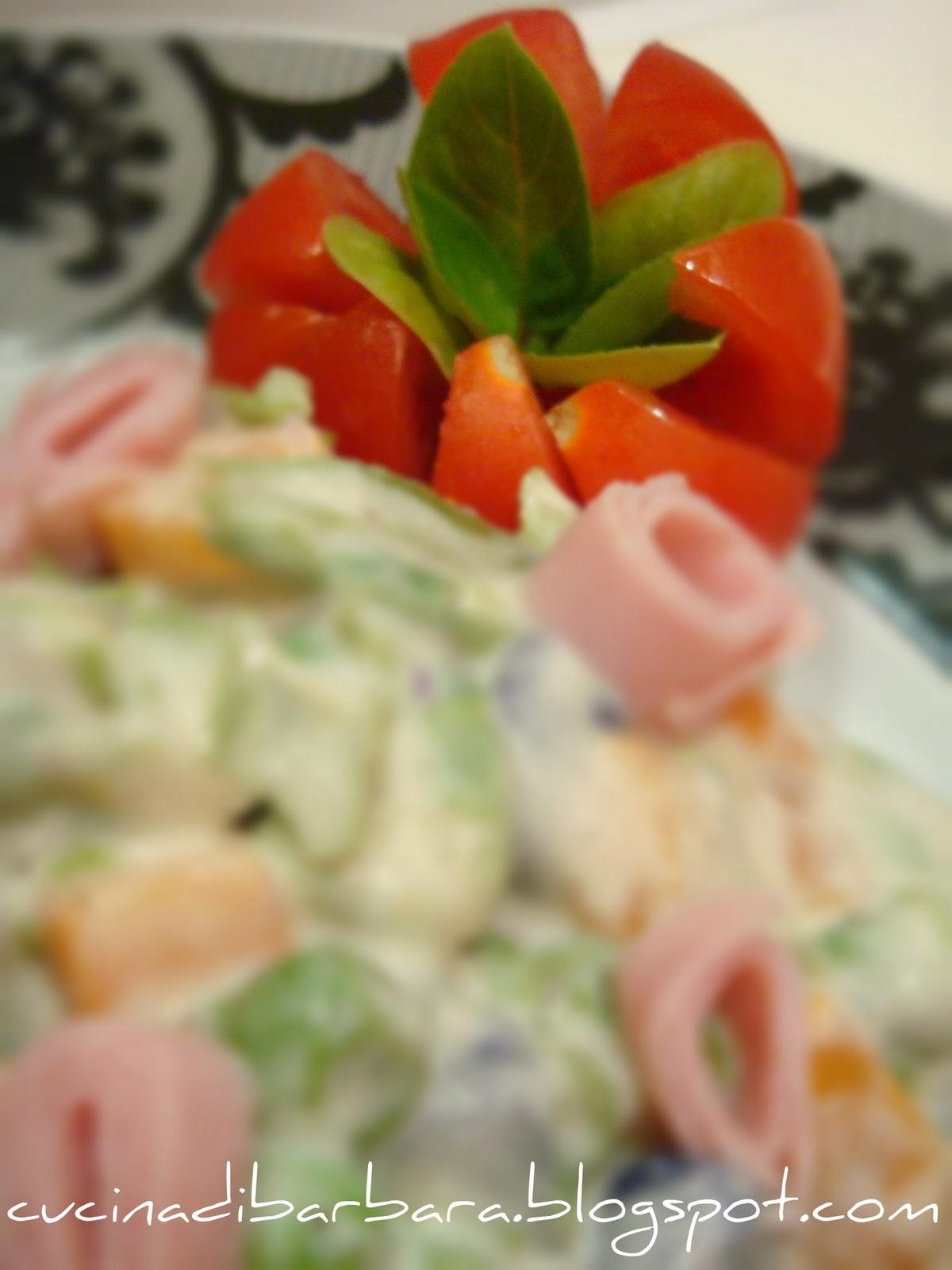Ricetta Insalata Russa Pentola A Pressione.Cucina Di Barbara Food Blog Blog Di Cucina Ricette Ricetta Insalata Russa Olivier Salad