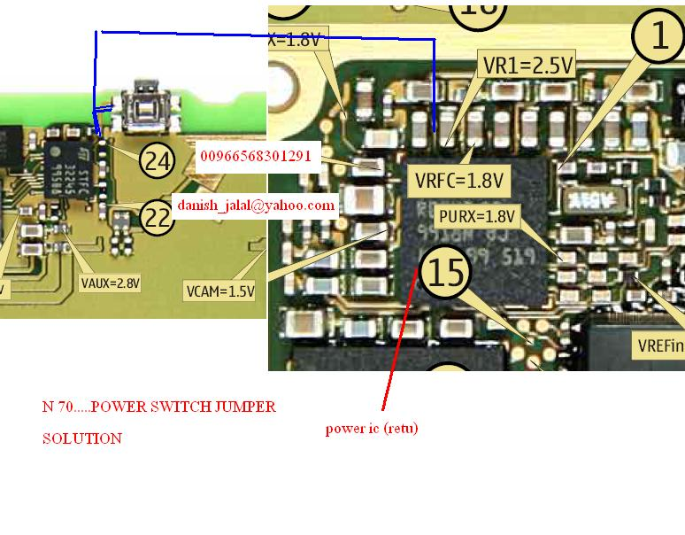 Nokia N70N72 Power Switch (ONOFF) Ways Easy Jumpers   Mobifix
