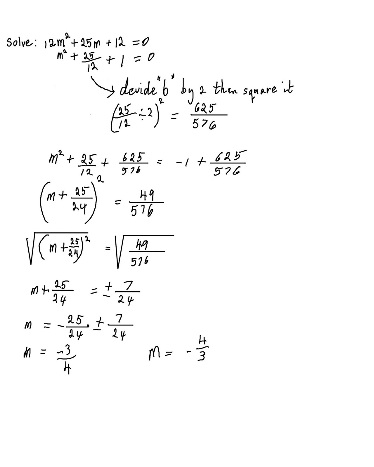 Algebra 2 Quadratic Equations