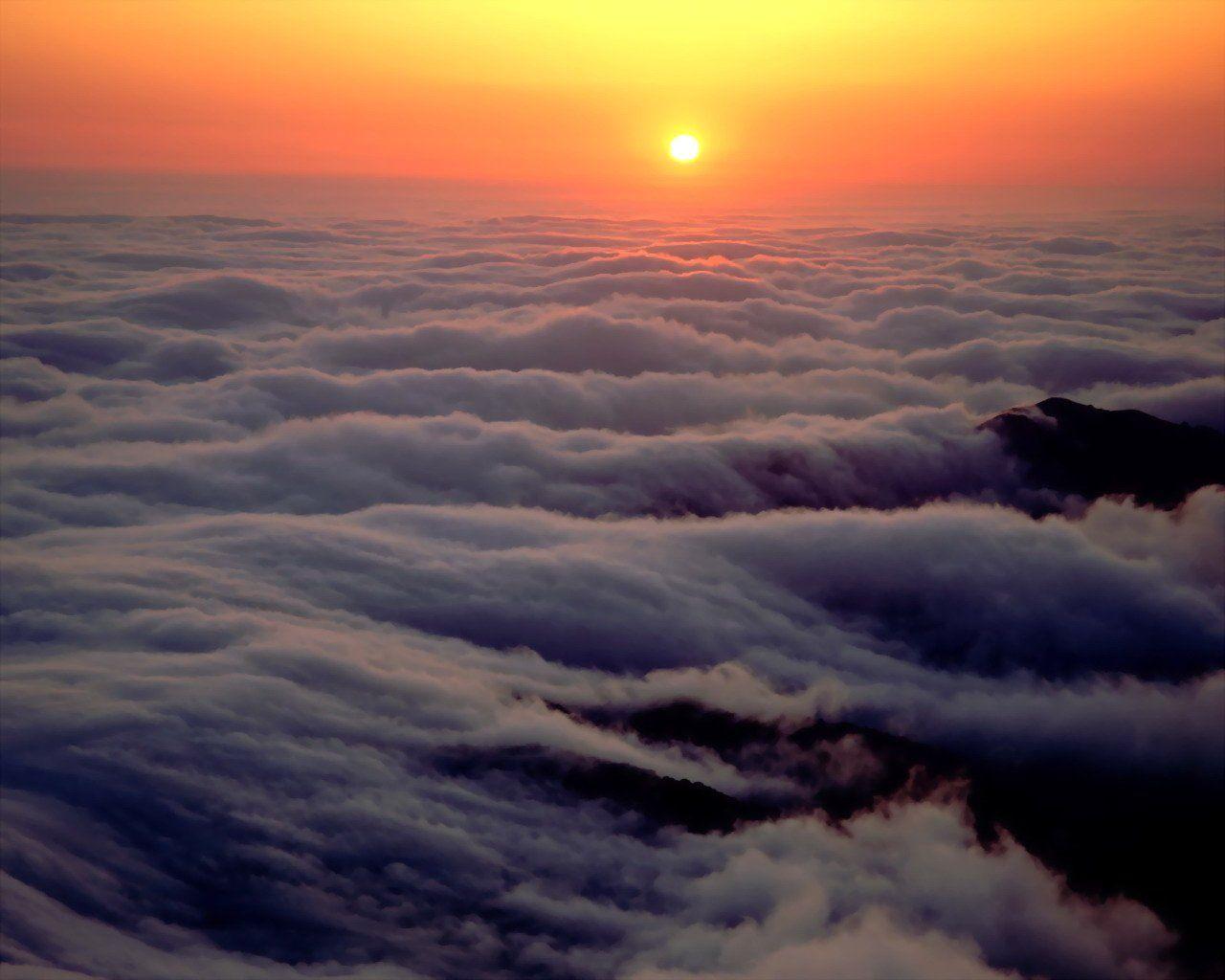 ocean nature sunset oceans clouds sea above atom subscribe posts sunsets pi desktop