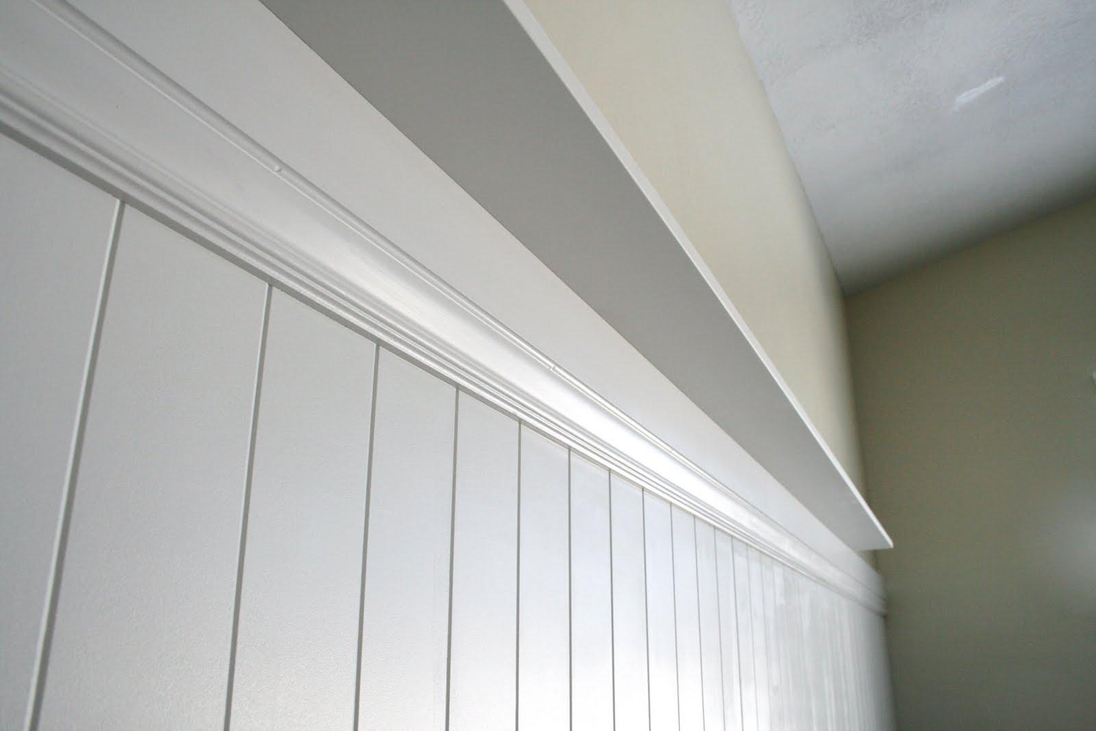 Beadboard Wall Shelf