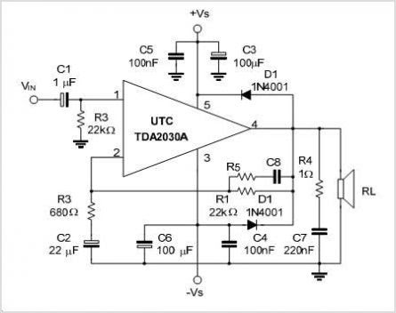 tda2030a 18W Hi-Fi Audio Power Amplifier And 35W Driver