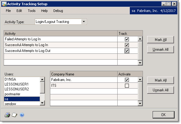 dynamics gp land dynamics gp activity tracking