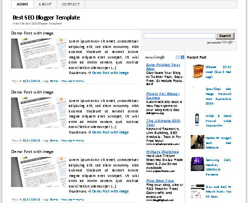 Template Blogger Super SEO Friendly