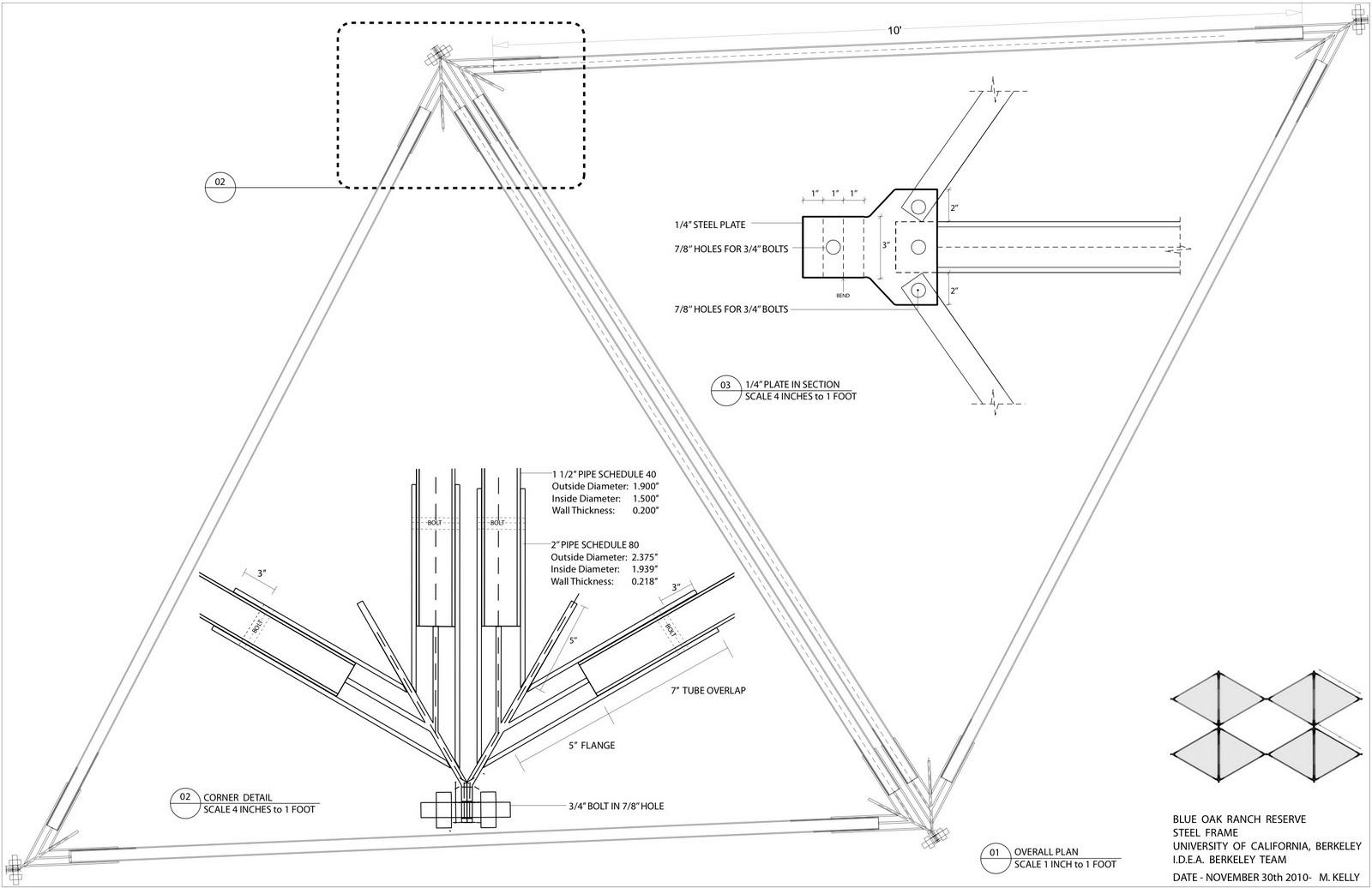 I.D.E.A. UC Berkeley: Steel Frame Construction Drawing
