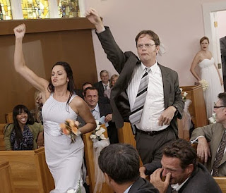 Pam and jim get married