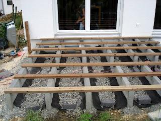 Unser Hausle Die Unterkonstruktion Der Holzterrasse