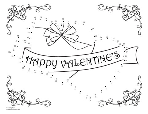 Valentine dot to dot coloring pages 1 20 coloring pages for Valentine connect the dots coloring pages