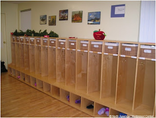 NAMC montessori entry items tips on new school year preparation montessori cubbies